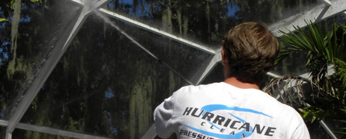 Hurricane Clean Pressure Washing Tampa Pool Screen Enclosure